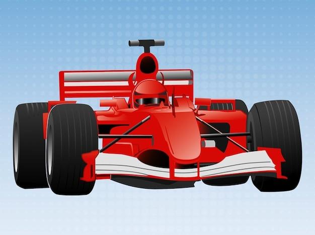 Formule un vecteur de voiture ferrari rapide