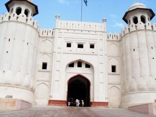 Fort de lahore shahi, de la pierre