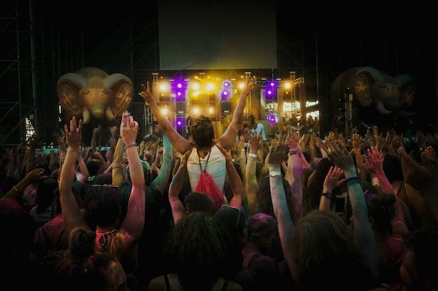 Foule de fans au concert
