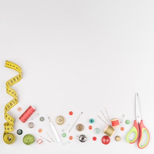 Fournitures de couture avec espace de copie