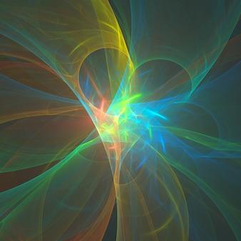 Fractale colorée abstraite