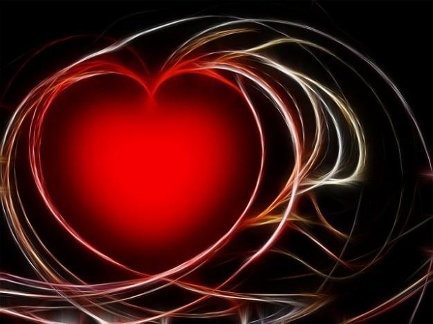 Fractales graphiques aime bénir les maladies cardiaques
