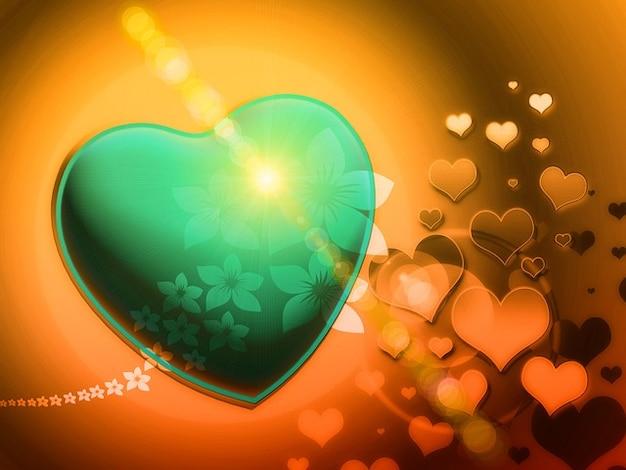 Fractales ludiques coeur romantique fractale