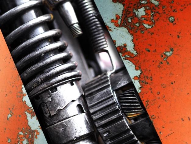 Un fragment du moteur de pièces de machine
