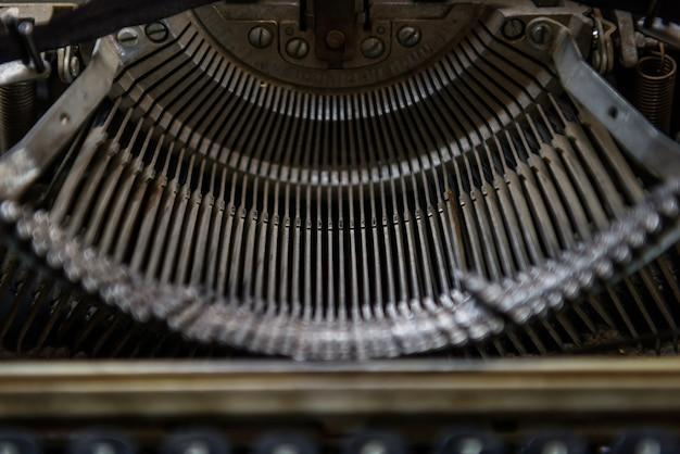 Fragment de machine à écrire vintage