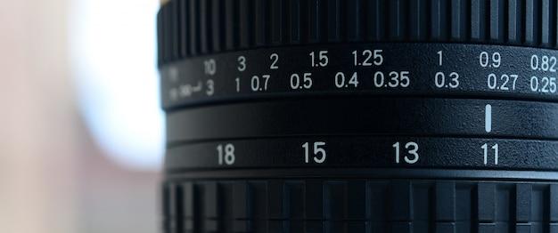 Fragment d'un objectif grand angle pour un appareil photo reflex moderne