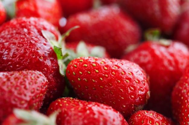 Fraises rouges naturelles juteuses et mûres
