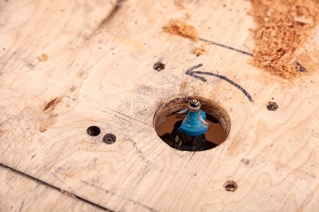 Fraiseuse pour travailler le bois en atelier
