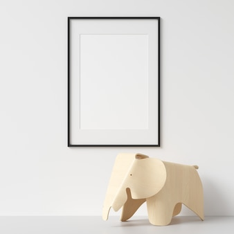 Frame mockup avec des décorations