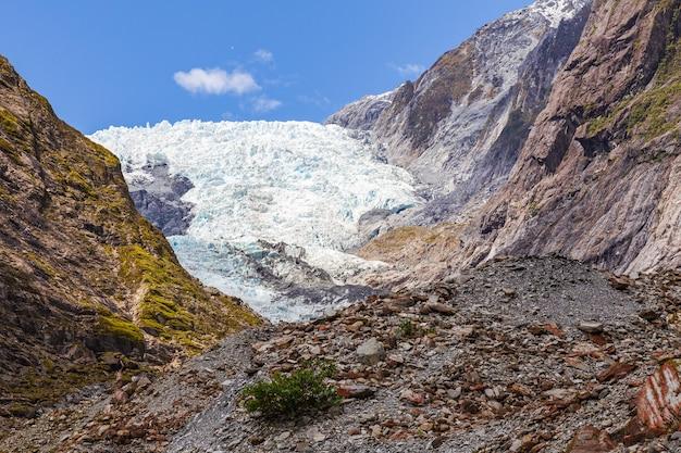 Franz joseph glacier ice mountain ile sud nouvelle zelande
