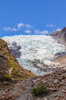 Franz joseph glacier stones and ice ile sud nouvelle zelande