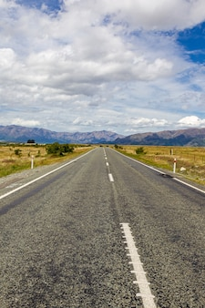 Freeway to mount cook ile sud nouvelle zelande