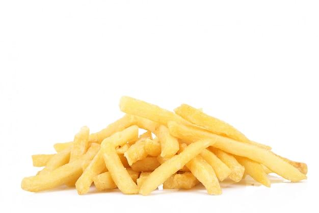 Frites sur blanc