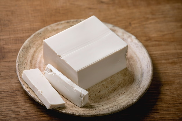 Fromage au tofu en soie
