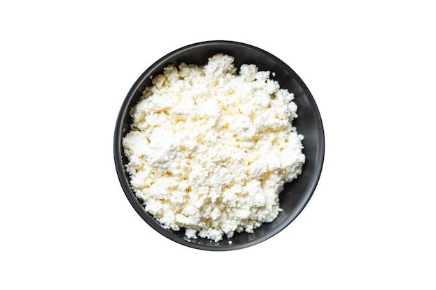 Fromage cottage aliments sains frais petit-déjeuner vache ou chèvre lait de brebis sur la table aliments sains