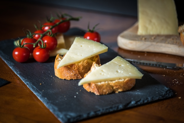 Fromage et tomates