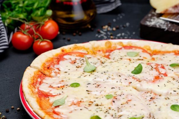 Fromage végétarien frais légumes pizza d'eurasie