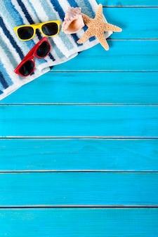 Frontière de fond de plage d'été