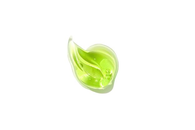 Frottis goutte de gel vert aloe vera texture transparente gel