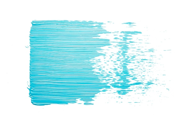 Frottis de peinture bleue sur bleu