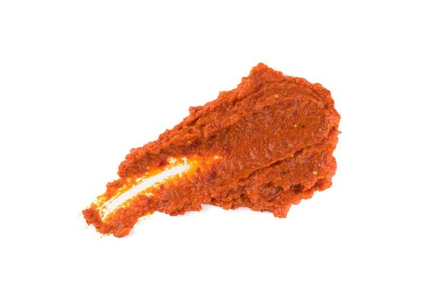 Frottis de salsa sause isolé