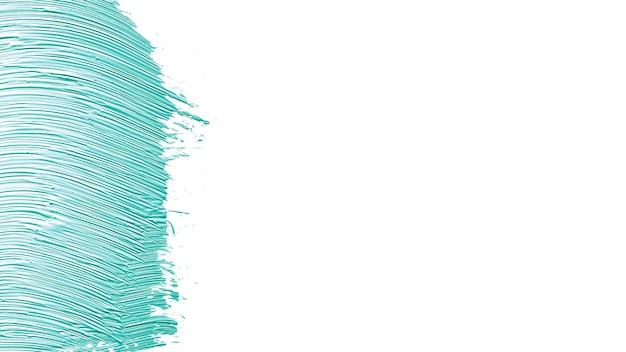 Frottis texturé de peinture bleue sur blanc