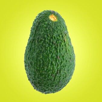 Fruit d'avocat isolé sur fond vert