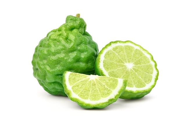 Fruit de bergamote isolé sur blanc