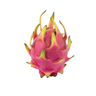 Fruit du dragon isolé sur blanc. (fruit pitaya)