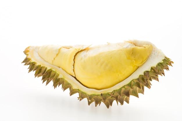 Fruit durian isolé