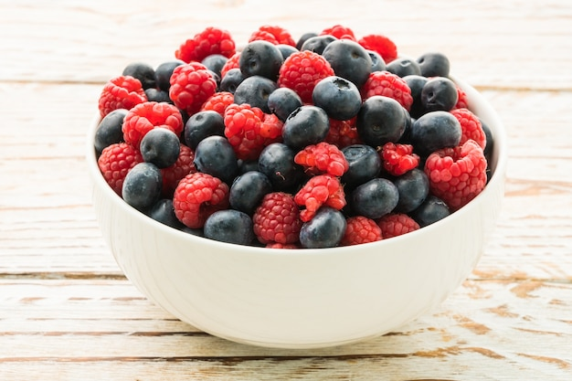 Fruit de myrtille et rasberry