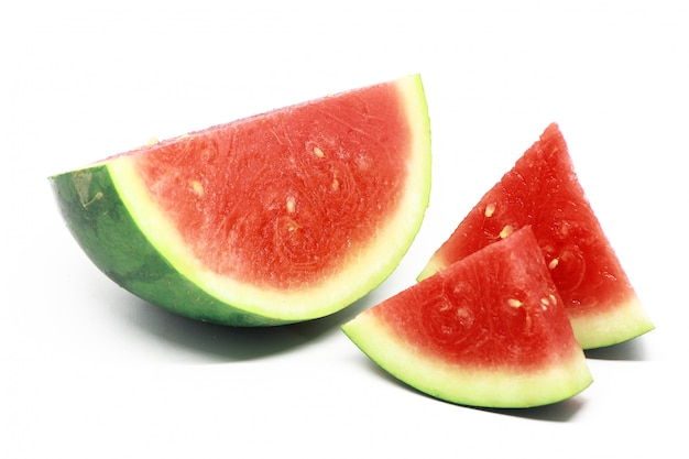Fruit de la pastèque isolé