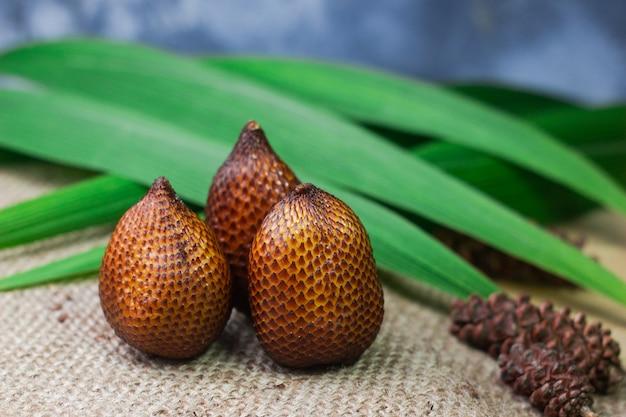 Fruit de serpent fruit tropical d'asie du sud-est