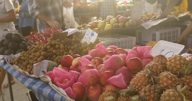 Fruits exotiques avec prix du marché