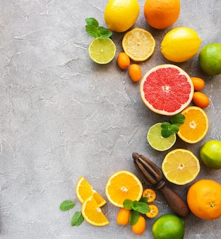 Fruits frais d'agrumes