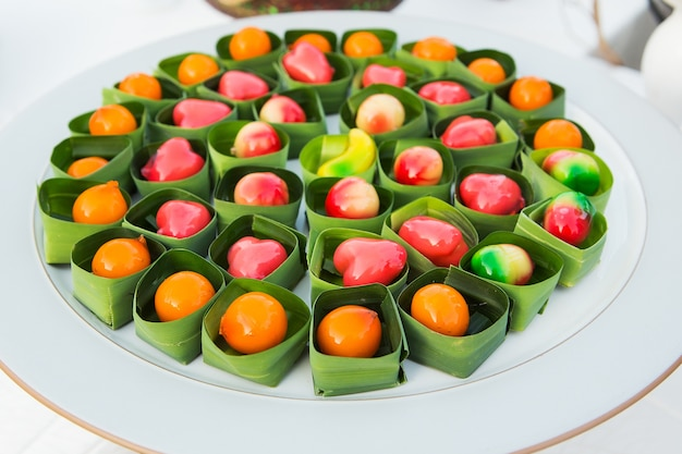 Fruits d'imitation supprimables (kanom look choup)
