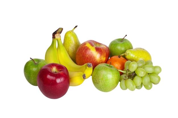 Fruits isolés sur blanc