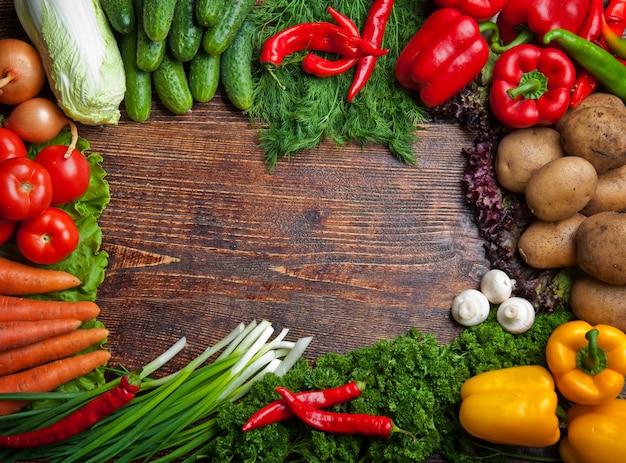 Fruits et légumes savoureux et sains