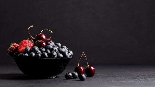 Fruits mélangés avec espace copie