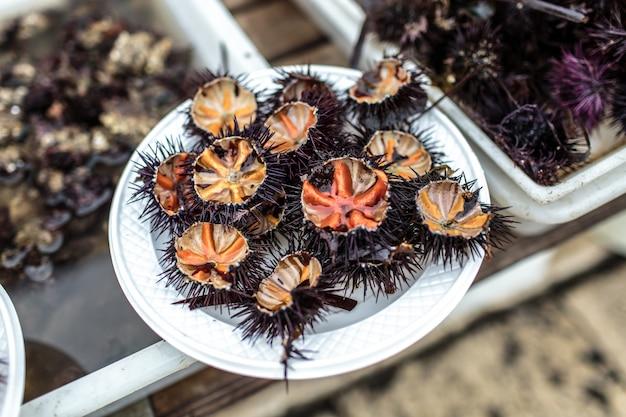 Fruits de mer aux oursins