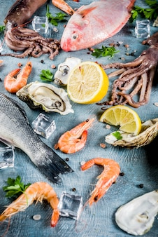 Fruits de mer crus