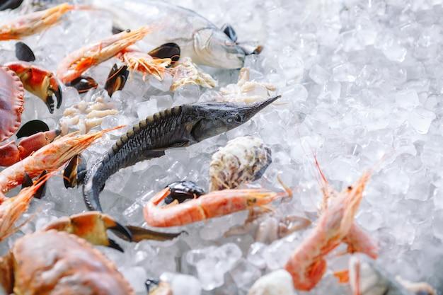 Fruits de mer sur glace