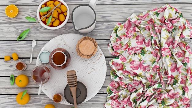 Fruits de miel sur la table pour le petit déjeuner