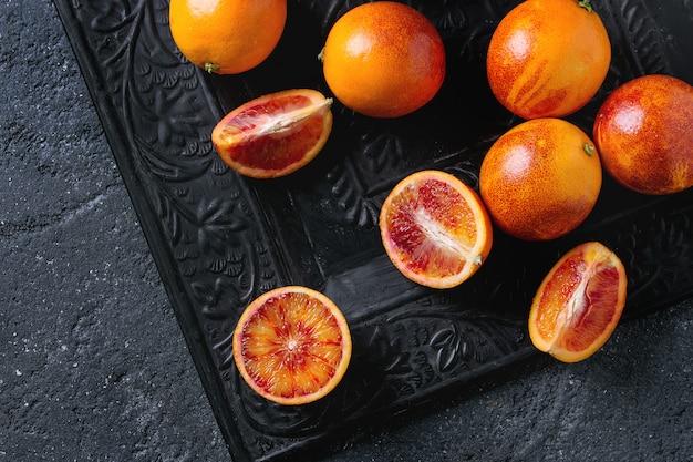 Fruits d'oranges de sang sicilien