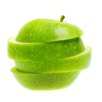 Fruits de pomme d'été frais sur blanc