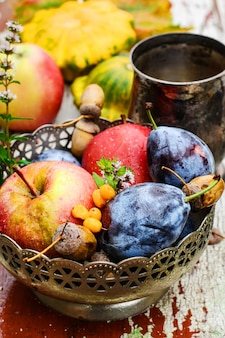Fruits récolte d'automne