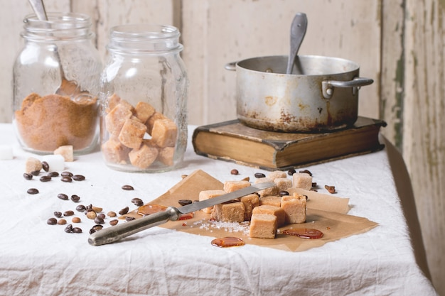 Fudge et grains de café