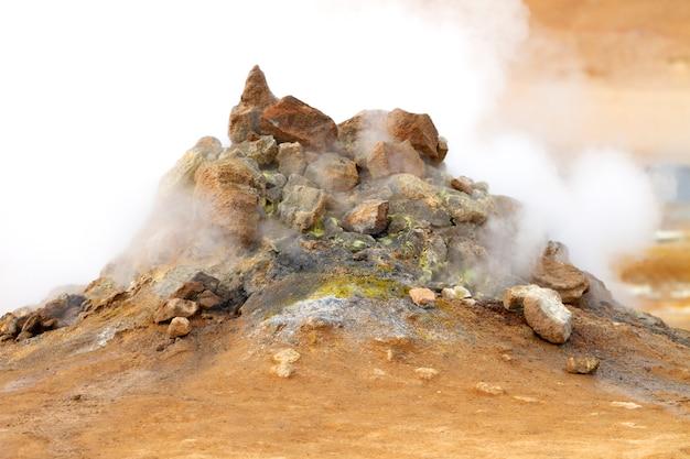 Fumarole volcanique en islande