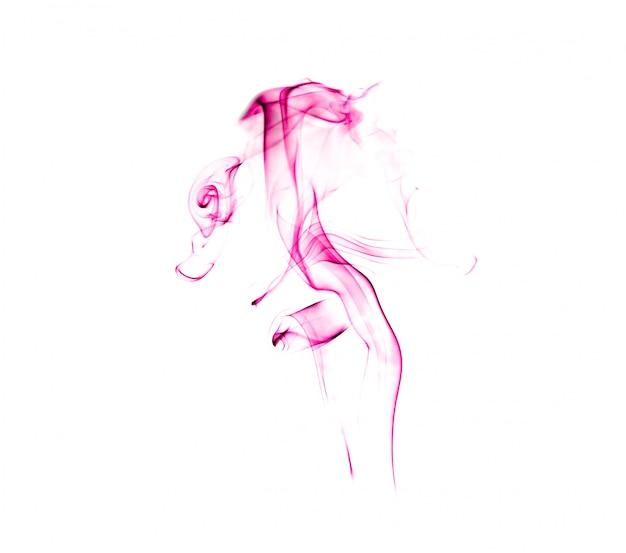 Fumée abstraite sur blanc