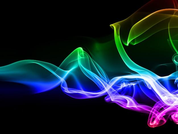 Fumée colorée sur fond noir